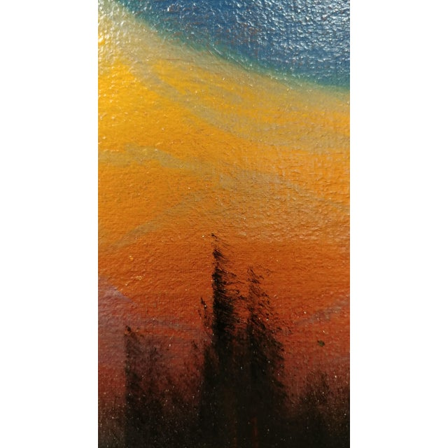 1920s James Everett Stuart- Sunset Glow at Mt Shasta -Beautiful Oil Painting 1921 For Sale - Image 5 of 10