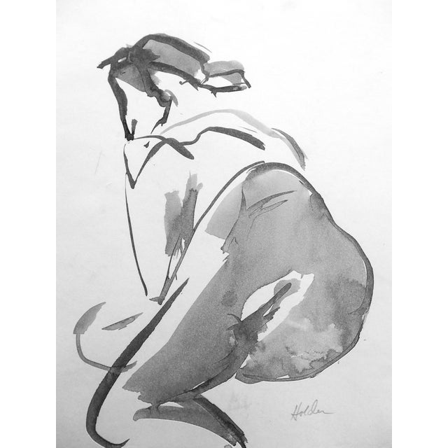 French Model Ink Drawing - Image 1 of 4