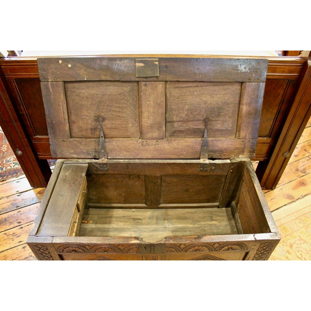 English English Oak Coffer For Sale - Image 3 of 4