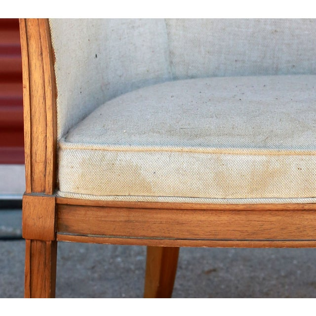 1930s Art Deco Barrel Back Club Chair For Sale - Image 6 of 7