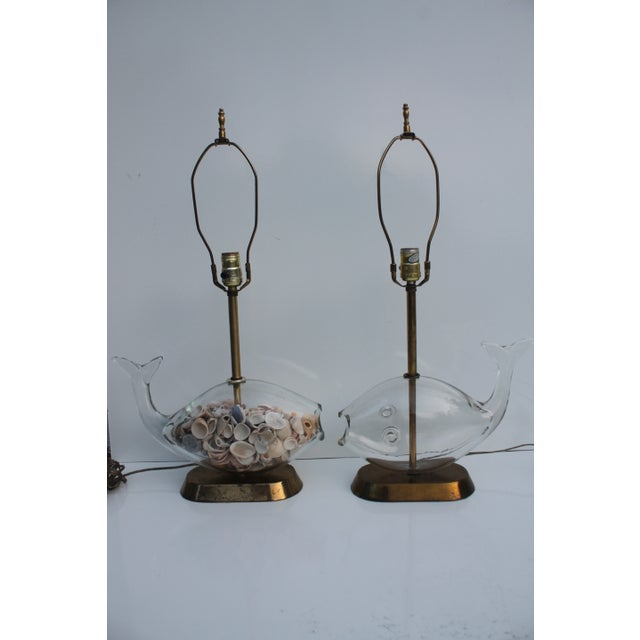 Blencko Art Glass Fish Table Lamps - A Pair - Image 2 of 11