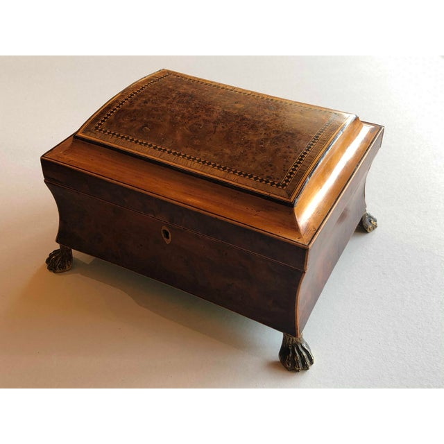 Traditional Regency Burr Yew Table Box For Sale - Image 3 of 12
