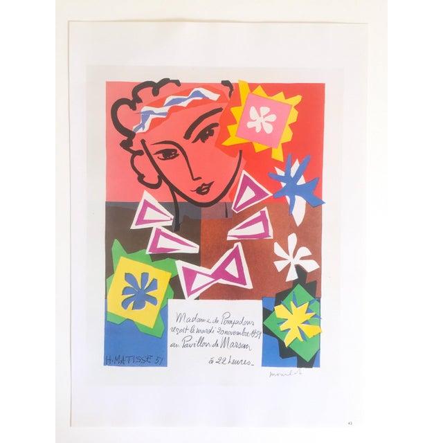 "White Henri Matisse Vintage 1989 Lithograph Print "" Bal Arts Decoratifs Mourlot "" 1951 For Sale - Image 8 of 10"