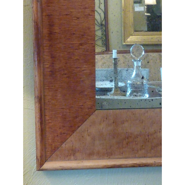 American Classical 19th C. Birdseye Maple Mirror For Sale - Image 3 of 3