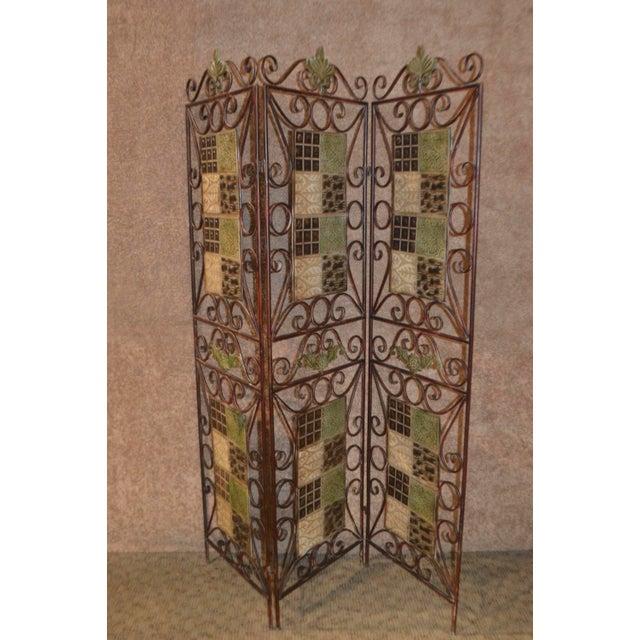 1980s Vintage 3-Panel Folding Screen For Sale In Philadelphia - Image 6 of 13