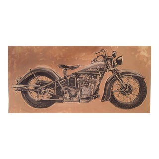 Original Motorcycle Illustration Painting by Stephen Heigh For Sale
