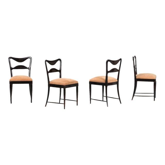 Osvaldo Borsani Dining Chairs Set From 1940 For Sale