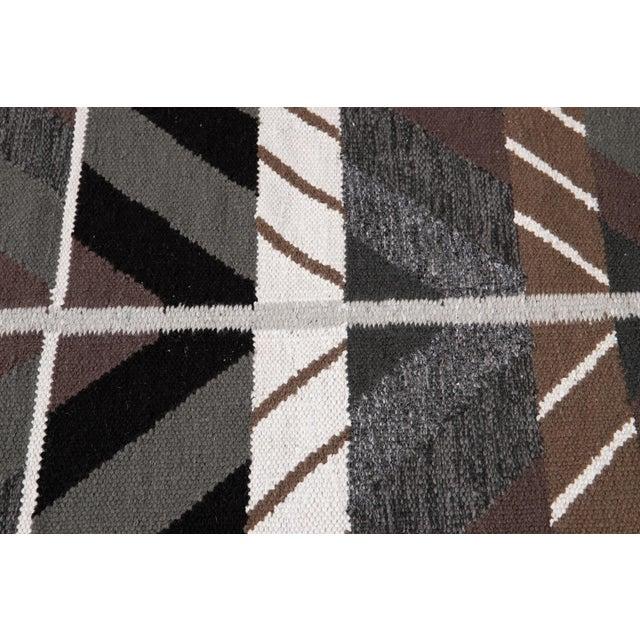 Gray 21st Century Modern Swedish Style Runner Rug, 3' X 14' For Sale - Image 8 of 9