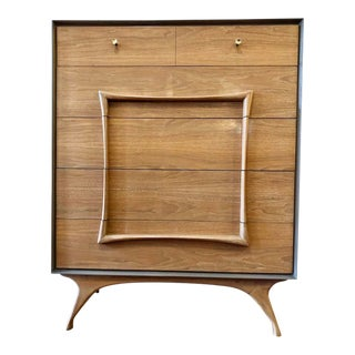 Mid Century Modern Tall Chest by Vanleigh For Sale