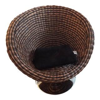 Modern Rattan Swivel Lounge Chair