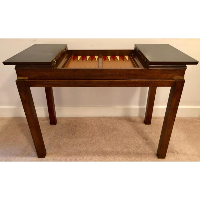 Lane Mid-Century Backgammon Campaign Console Table For Sale - Image 13 of 13