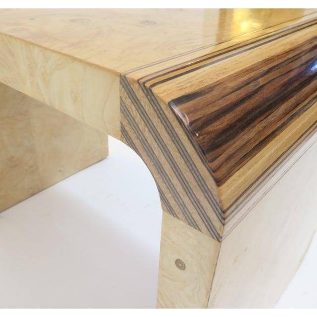 Henredon Vintage Burlwood Side Tables - A Pair - Image 6 of 8