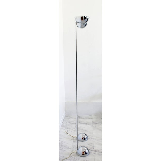 Mid-Century Modern Mid-Century Modern Robert Sonneman Pair of Chrome Uplight Floor Lamps, 1970s For Sale - Image 3 of 7