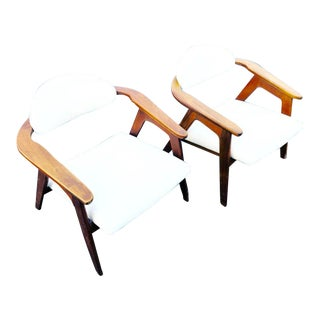 Vintage Mid Century Adrian Pearsall Lounge Chairs - a Pair For Sale