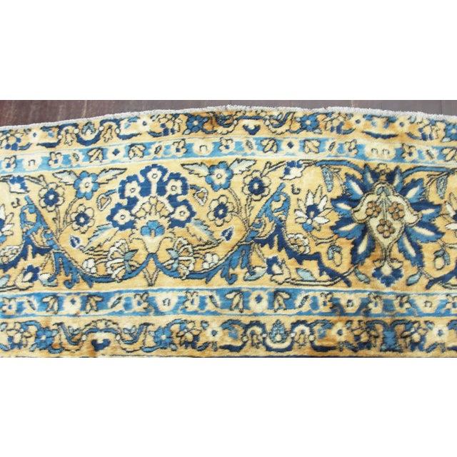 "Antique Persian Laver Kerman Carpet, 8'5"" X 11'7"" For Sale In Chicago - Image 6 of 9"