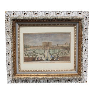 Neoclassical Hand Coloured Engraving For Sale