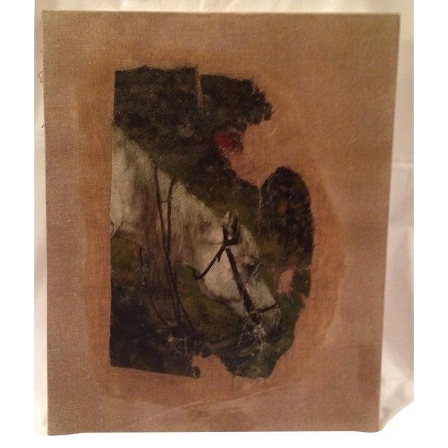 19th Century Flemish Horse Painting Fragment - Image 1 of 6