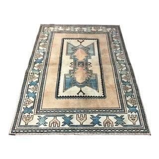 1960s Vintage Anatolian Handmade Tribal Rug- 3′11″ × 5′7″ For Sale
