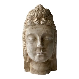 Early 20th Century Marble Carved Buddha For Sale