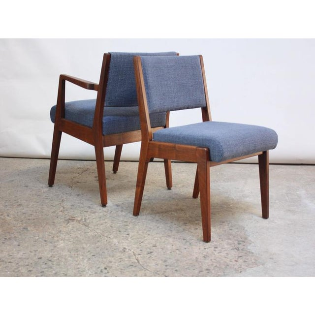 Set of Six Walnut Dining Chairs by Jens Risom - Image 3 of 11