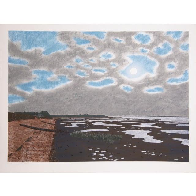 Bill Sullivan -Low Tide 18 Hand Colored Lithograph For Sale