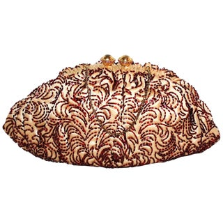 1940s Josef French Hand Beaded Evening Bag For Sale