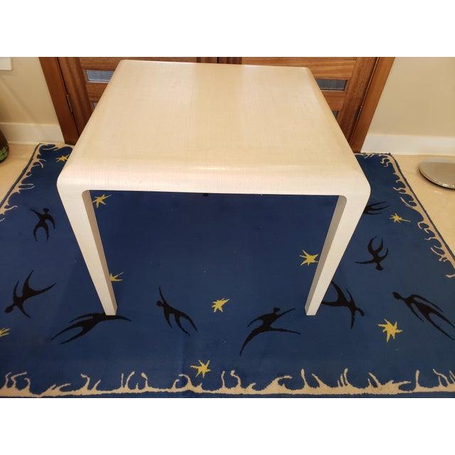 Textile Modern Harrison Van Horn Raffia Game Table For Sale - Image 7 of 9