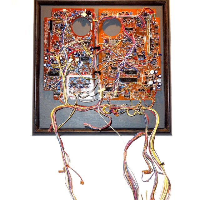 Mid 20th Century Component Art Circuit Wall Sculpture. Bill Reiter. For Sale - Image 11 of 11