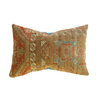 Reclaimed Antique Belouch Rug Fragment 13x19 Pillow For Sale