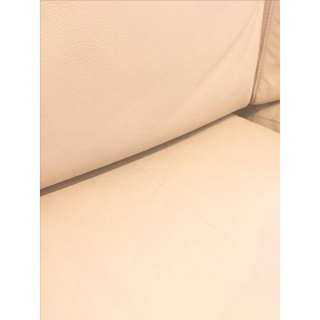 Ver Design Cream Leather Armonia Sofa - Image 6 of 7