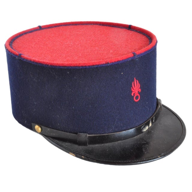 b199bea587 A Vintage French Foreign Legion Kepi Hat. Inside