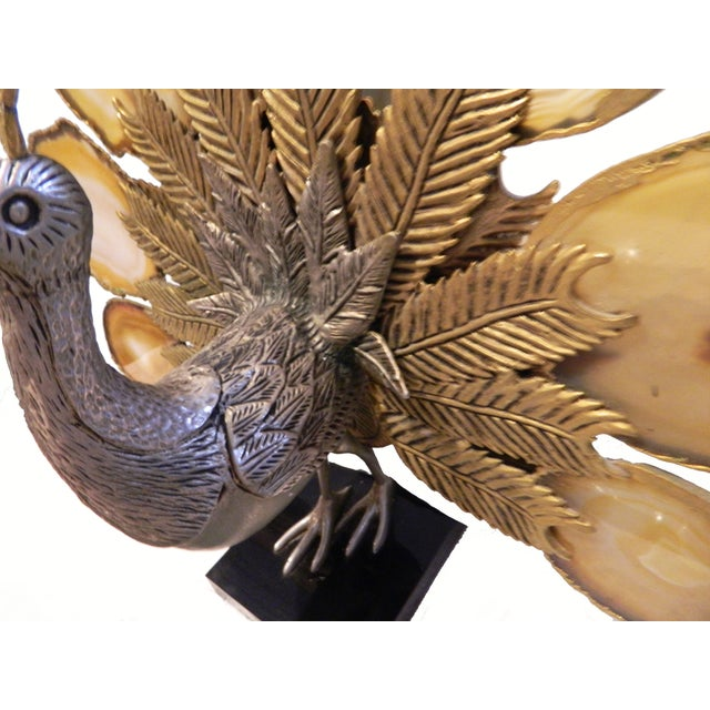 Jacques Duval Brasseur Peacock Figurine - Image 2 of 4