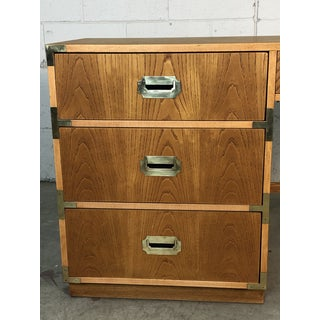 1970s Dixie Oak Wood Campaign & Bamboo Style Desk Preview