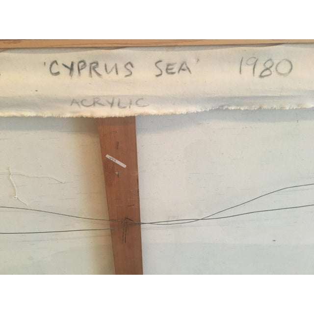 """1980 """"Cyprus Sea"""" Abstract Painting - Image 8 of 11"""