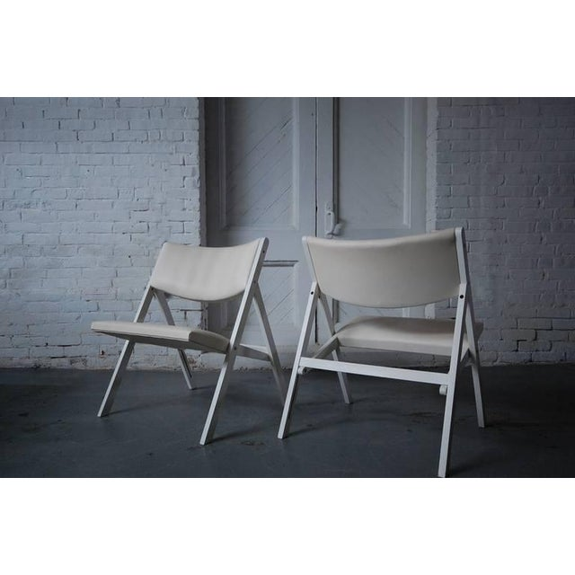 """Brass Pair of Gio Ponti """"Chair of Little Seat"""" Chairs For Sale - Image 7 of 9"""