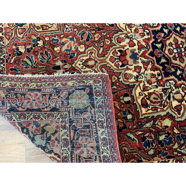 """1930s Antique Persian Sarouk Rug- 3'3"""" X 4'10"""" For Sale - Image 9 of 10"""