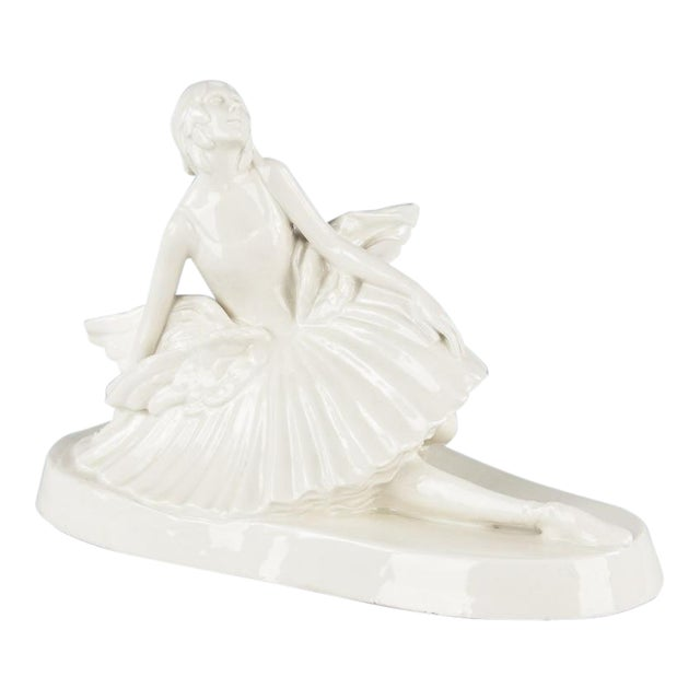 Signed French Ceramic Figurine of Ballerina Anna Pavlova, 1930s - Image 1 of 11