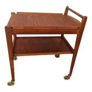 Erik Gustafsson Mid-Century Swedish Teak Bar Cart