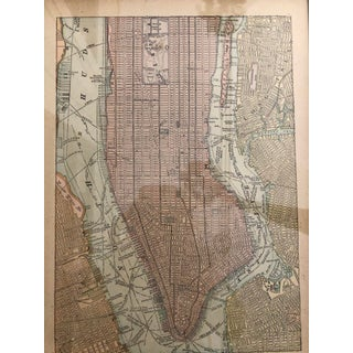 1898 Antique Framed New York City Map Preview