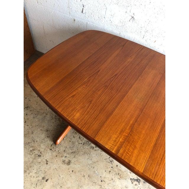 Vintage Mid-Century Danish Modern Extendable Dining Table by Skovby Mobelfabrik Denmark For Sale - Image 10 of 13