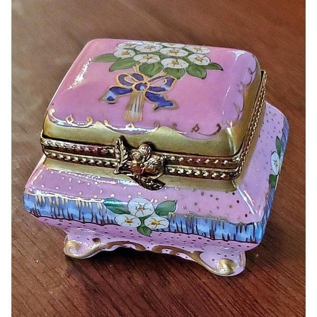 Vintage Limoges Sarcophagus Ring Box For Sale - Image 12 of 12