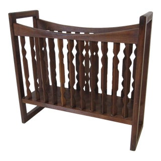 Drexel Walnut Magazine Rack For Sale