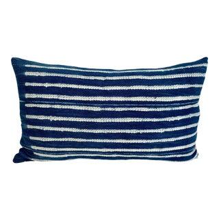 Mali Indigo Blues Lumbar Pillow For Sale