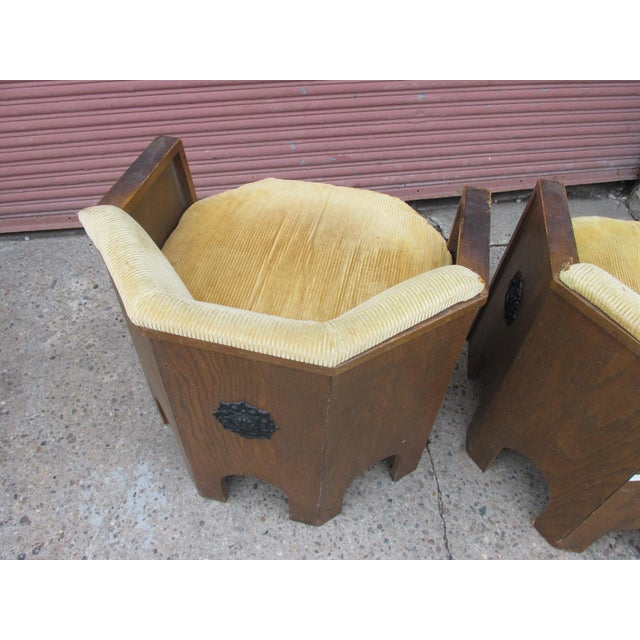 Walnut Adrian Pearsall for Mastercraft Pair of Chairs For Sale - Image 7 of 9