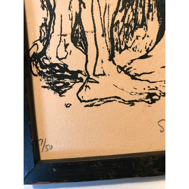 """Mid Century Print """"Lovers"""" For Sale In New York - Image 6 of 7"""
