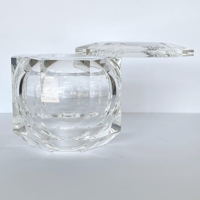 1970s Lucite Ice Bucket by Alessando Albrizzi For Sale - Image 5 of 9