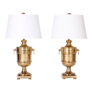 Brass Urn Table Lamps by Ralph Lauren - A Pair For Sale
