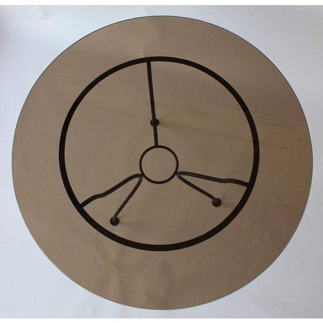 John Salterini Mid-Century Iron Tripod Table For Sale - Image 4 of 8
