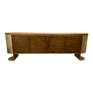 Mid-Century Style Caracole Prime Time Entertainment Cabinet For Sale