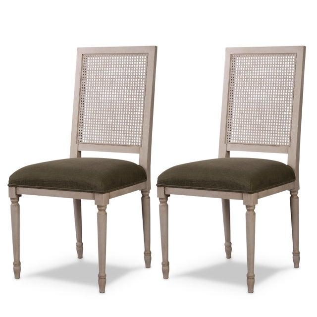 Sarreid Ltd Adams Cane Back Beechwood Dining Chairs- A Pair - Image 6 of 6